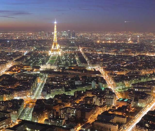 ___ Famous Landmarks Satellite View Of The Eiffel Tower Paris France
