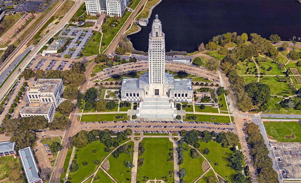 Advertisement louisiana state capitol map Full