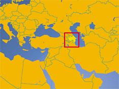 Where in Central Asia is Azerbaijan?