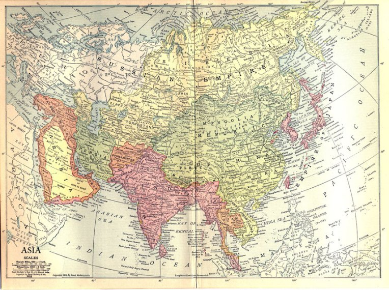 Historical Map of Asia 1914   Nations Online Project Map of Asia in 1914