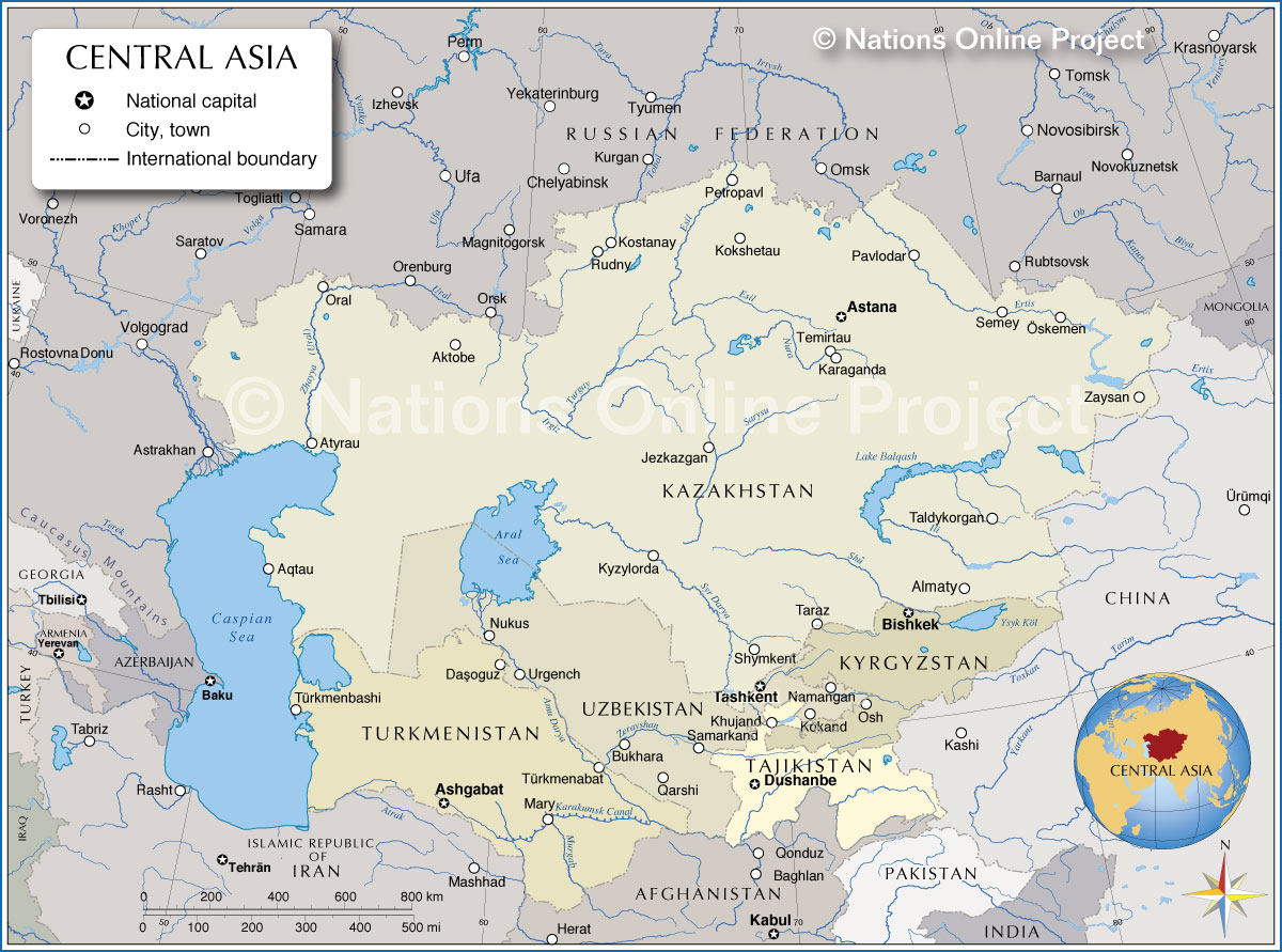Image result for map of central asia