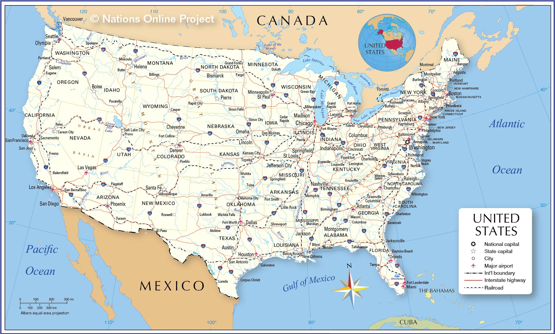 Learn how relief is shown on maps. Map Of The United States Nations Online Project