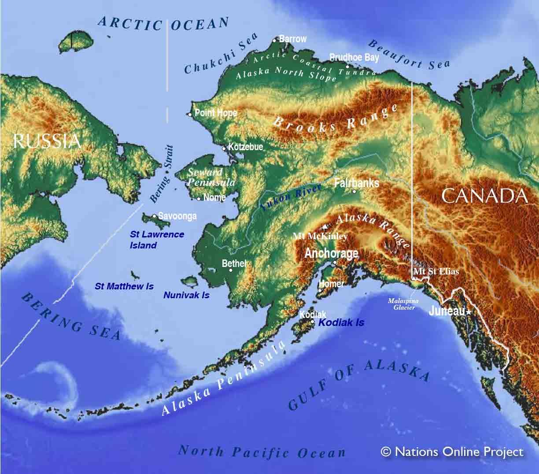Map Bering Sea World
