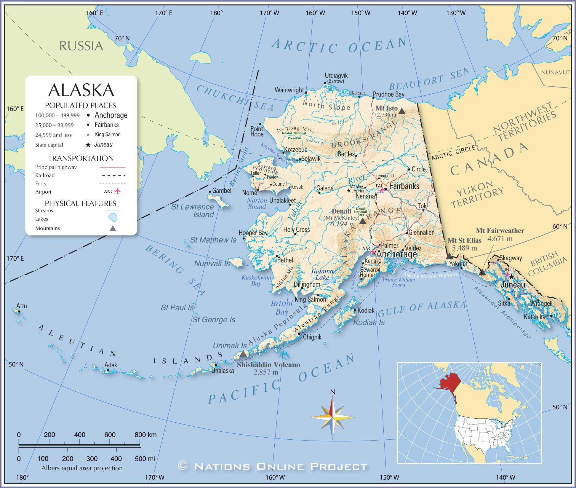 Map Of Usa With Alaska Afp Cv