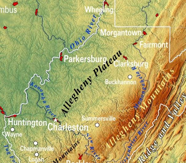 HD Decor Images » Reference Maps of West Virginia  USA   Nations Online Project West Virginia Topographic Regions Map
