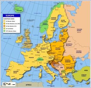 Image result for eu map