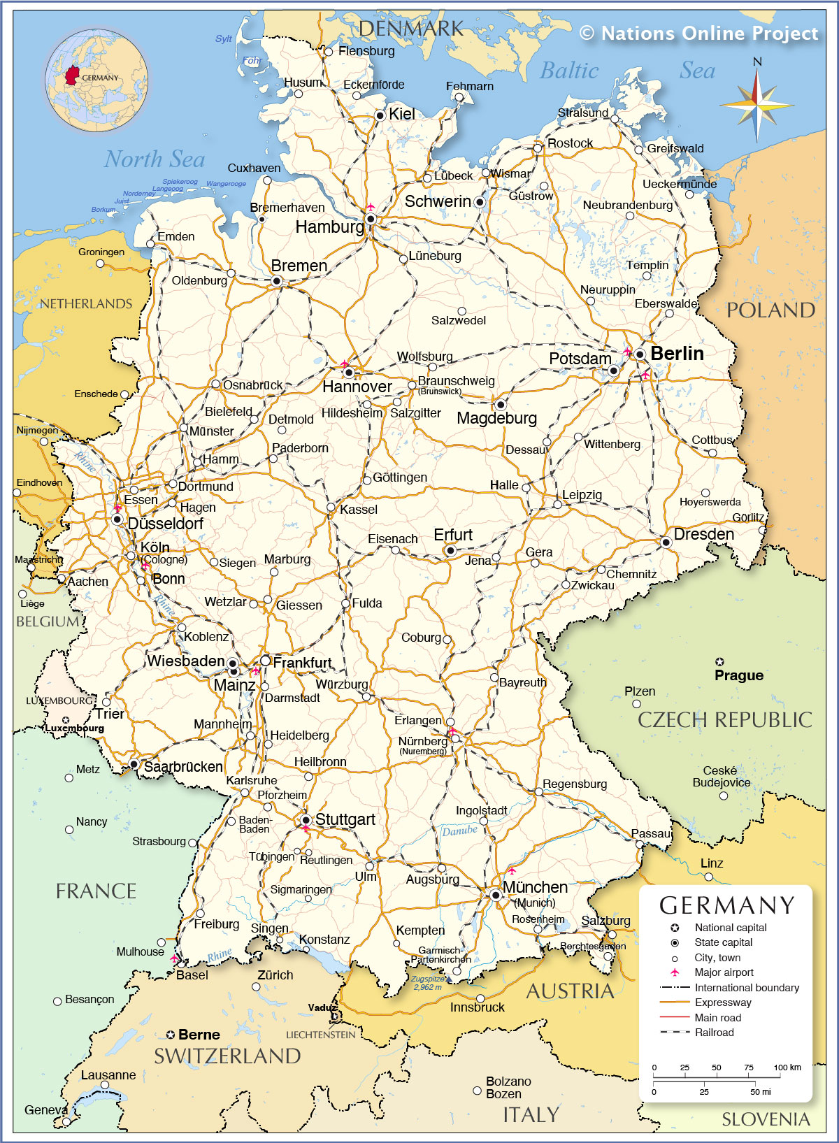 Map Of Germany Showing Cologne Afp Cv
