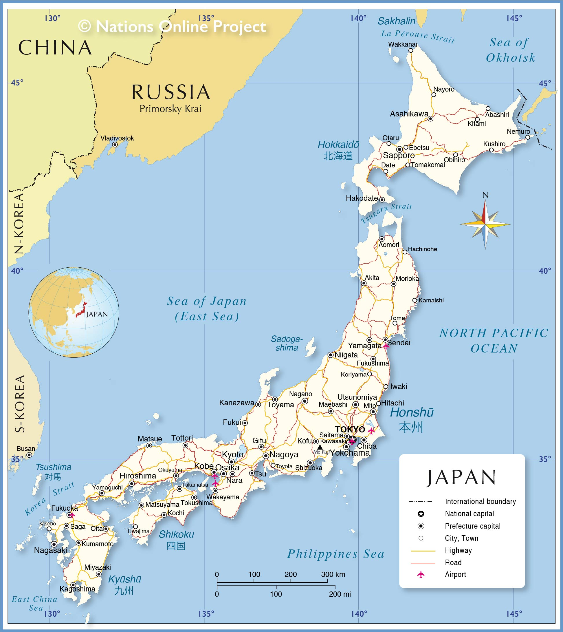 Political Map Of Japan
