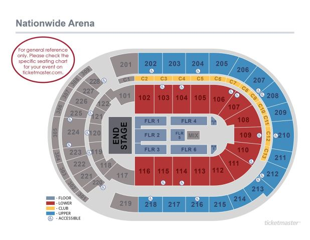 Nationwide Arena Seating Chart With Rows Brokeasshome Com