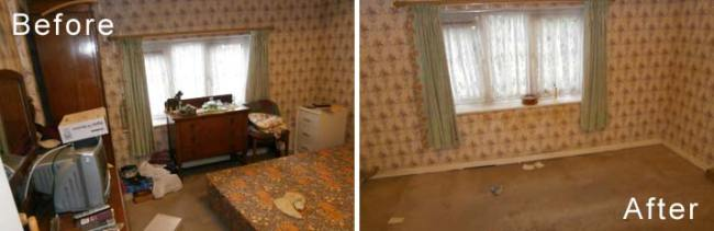 Probate House Clearance Before & After Photos