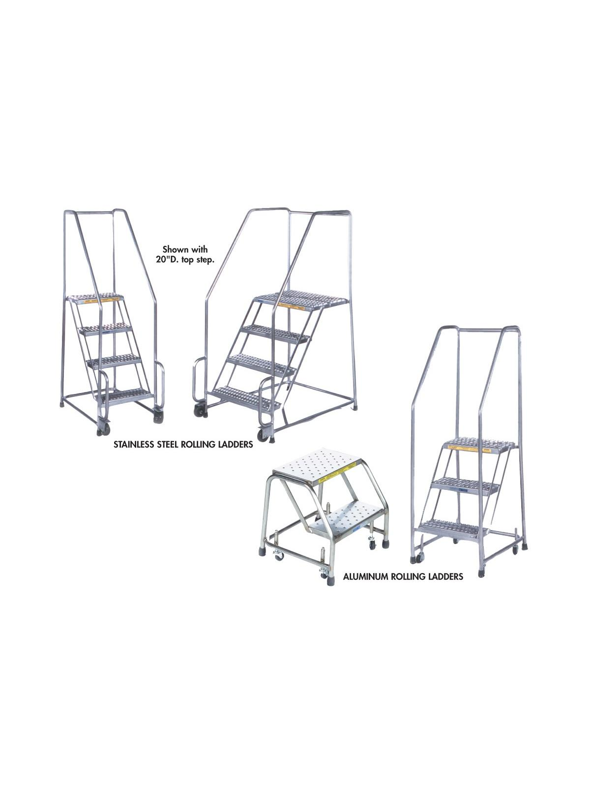 Stainless Steel Amp Aluminum Rolling Ladders At Nationwide