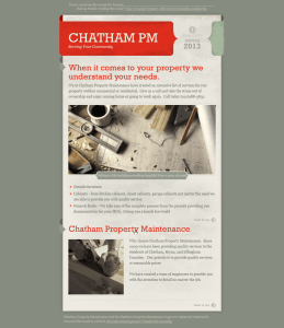 Chatham Property Maintenance Winter Newsletter