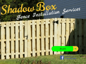 Shadow Box Style Fence