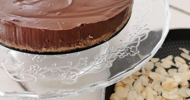 Tarta Vegana de Chocolate negro y Yogur