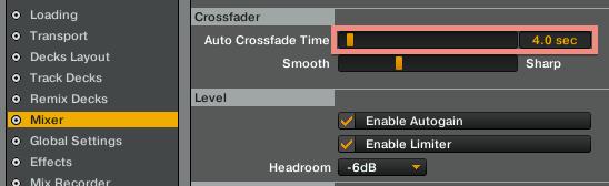 Mixer spazio tempo di mixaggio