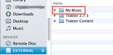 Backup Traktor my music
