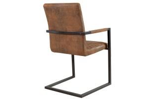 Designer Stuhl BORNEO INDUSTRIAL BROWN bei NATIVO Möbel ...