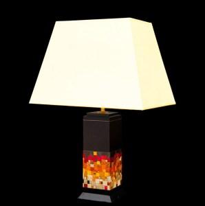 luminaires lampe en bois et fibres de blé Nativos