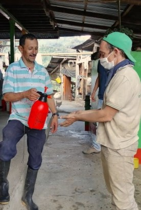 Mesures d'hygiène lors de la récolte de café en Colombie
