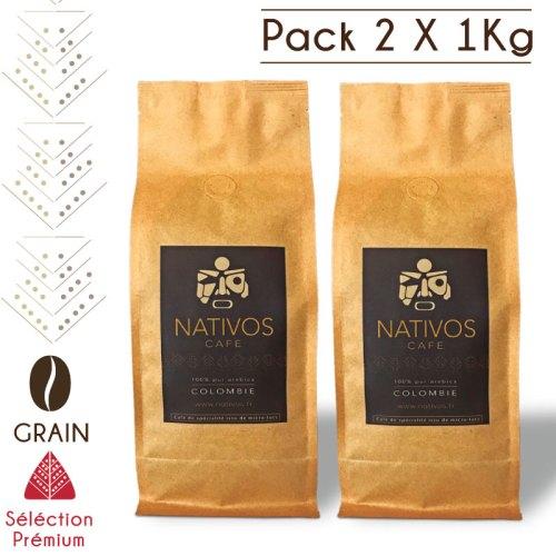 Pack café en grain micro-lot colombie