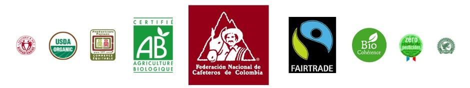 Labels de certification biologique utilisés en caféiculture en Colombie