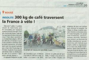Presse : Insolite, 300kg de café traversent la France à vélo