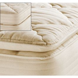 Royal Pedic Natural Organic Cotton Pillowtop Mattress Pads Sheets Toppers Allergy Bedding