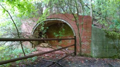A bricked up tunnel