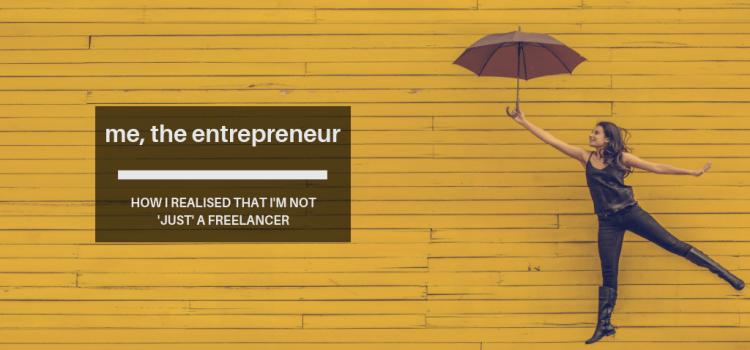 On discovering I'm an entrepreneur