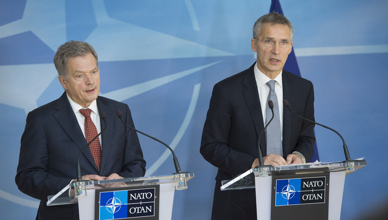 Joint press point with NATO Secretary General Jens Stoltenberg and the President of the Republic of Finland, Sauli Niinisto