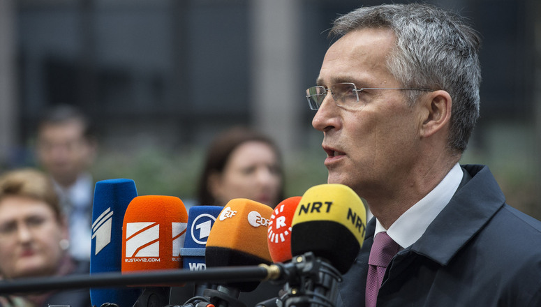 Doorstep statement by NATO Secretary General Jens Stoltenberg at the start of the European Union Foreign Affairs Council