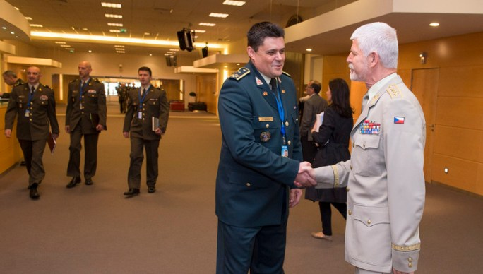 General Petr Pavel, Chairman of the NATO Military Committee and Brigadier General Rajko Pesic, Military Representative for Montenegro