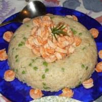 Savarin di riso e gamberi