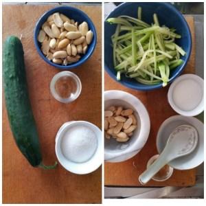 salsa di cetrioli e arachidi