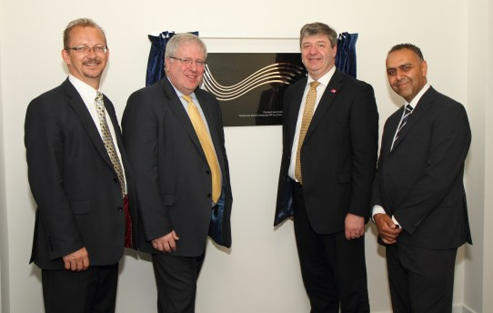 Richard Deakin, NATS CEO, with Patrick McLoughlin MP, Alistair Carmichael MP and Dr Maged Girgis, NATS Senior Medical Officer