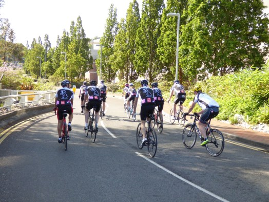 The cyclists start the ride at the Swanwick Centre