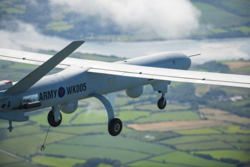 A Thales built Watchkeeper UAS.