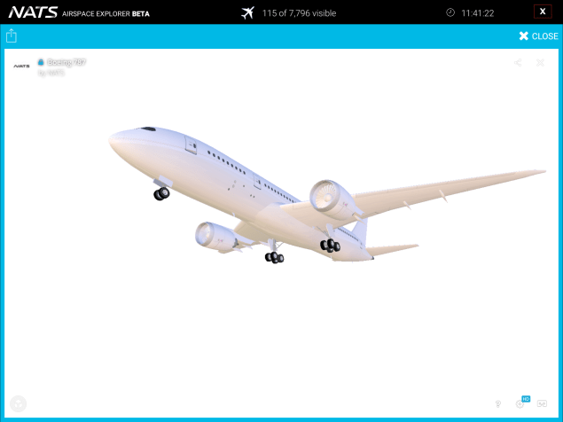 The app includes 3D models for all the most popular aircraft types