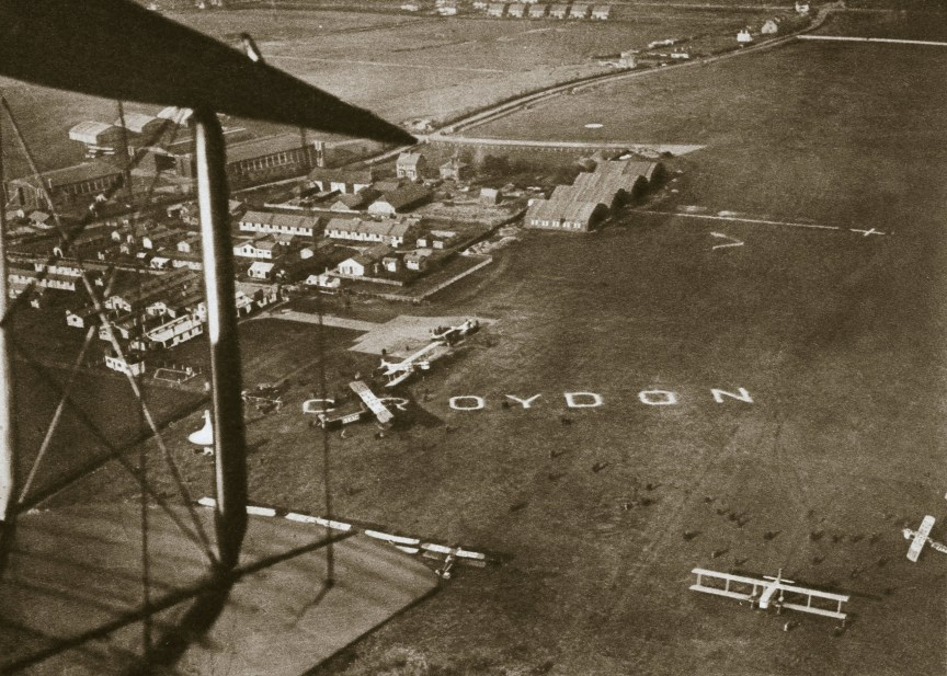 Aerial view of London Airport, 1925. Artist: Unknown. Image shot 1925. Exact date unknown.