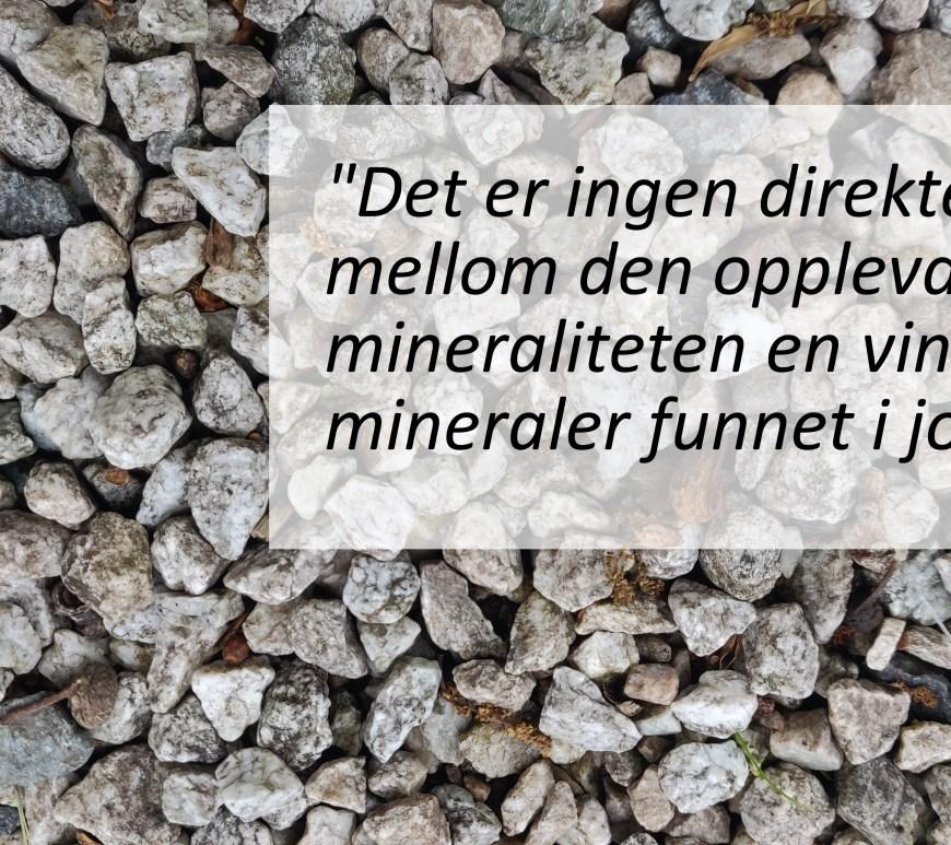 Mineralitet i vin