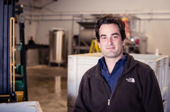 Gavin Chanin på vingården sin