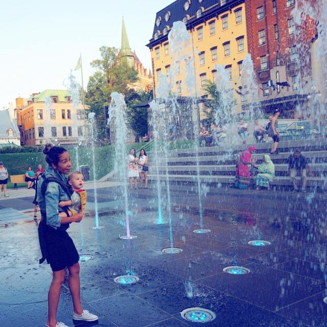Water play on a Saturdayin oldquebeccity with my babyboy presstrip
