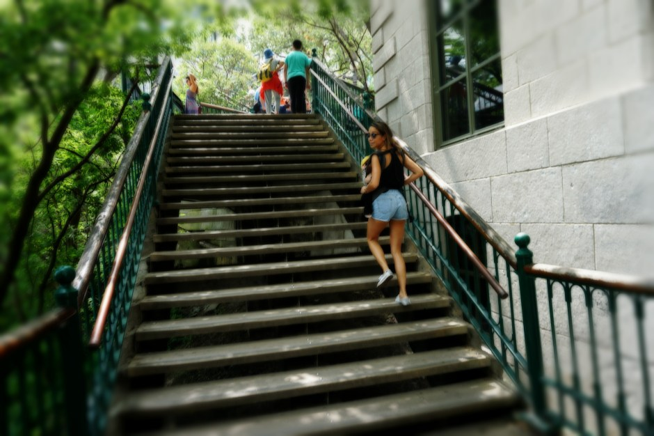 The Family Fairytale that is Quebec City - Walking Up the Stairs