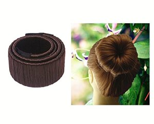 Cdet Perruque de cheveux Cheveux Donut / Bun Disk Maker / Chignon Donut Hair Piece Bob Maker Outil cheveux Français Twist Hair Style Outil Bricolage mode Femmes Filles 1PC 21×2,5cm