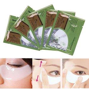Zone de 5pcs Eye Care Pad Cristal Collagène œil Masque visage paupière l'humidité Pad œil de réduire les rides et sacs cernes