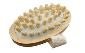 Whyyudan Brosse en bois de corps de massager en bois naturel tenu dans la main pour la réduction de cellulites