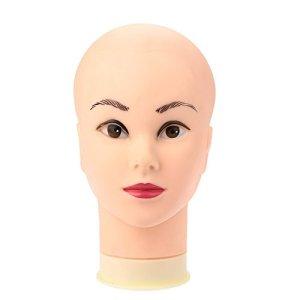 Anself Modèle de tête gel de silice pour perruque/chapeau cosmétologie Mannequin presentoir bijoux