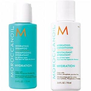 marocain Huile hydratante Shampoing et après-shampoing 7oml de voyage ou un pack d'essai