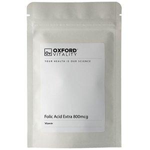 Oxford Vitality – Comprimés Acide Folique EXTRA 800mcg