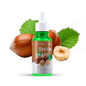 Stevia Gouttes de Noisette 50ml – Édulcorant Liquide – Ingrédients Naturels (Noisette) – PureStevia